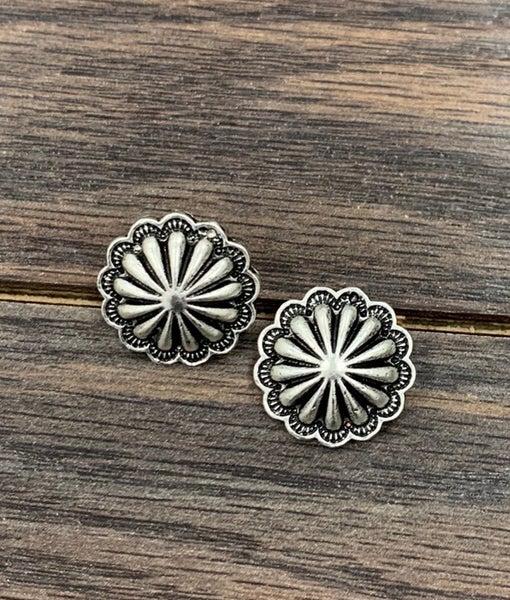 Lubbock Concho Stud Earrings