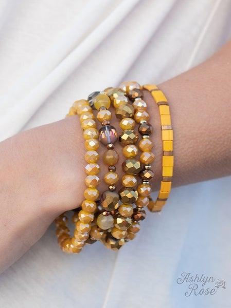 Not-So-Neutral Mustard Bracelet Set