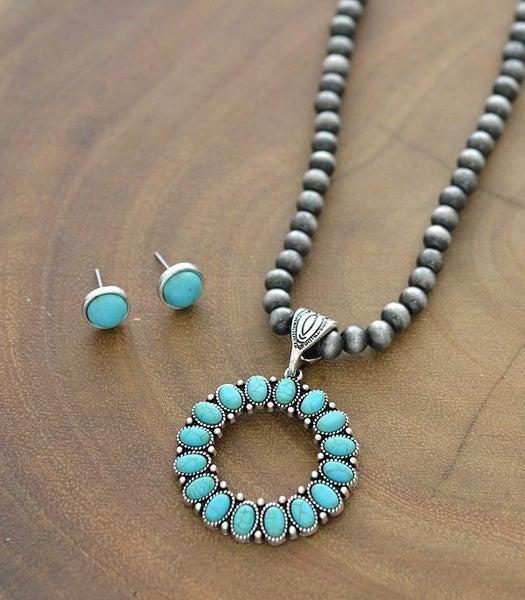 Tally Navajo Pearl & Turquoise Set