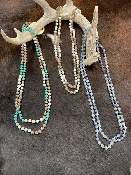 """Shimmer & Sparkle 60"""" Beaded Necklace"""