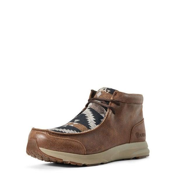 Ariat Men's Wicker and Navy Aztec Spitfire Shoes