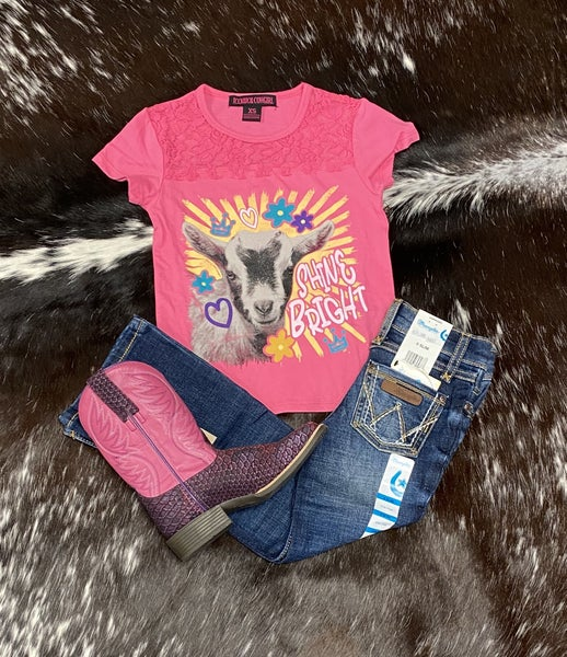 Panhandle GIRLS Shine Bright Goat Tee