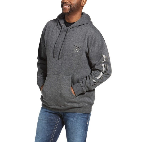 Ariat Men's Charcoal Heather Logo Hoodie