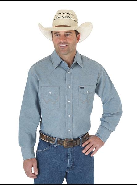 Wrangler Cowboy Cut Chambray Long Sleeve