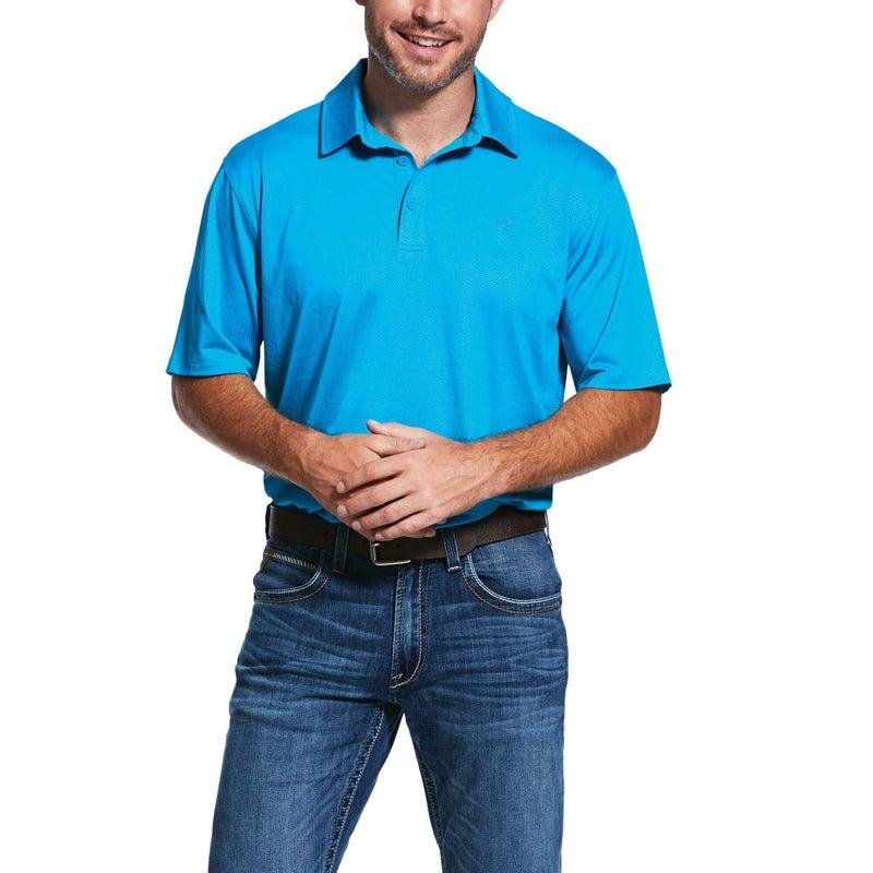 Ariat Men's Birdseye Button Polo