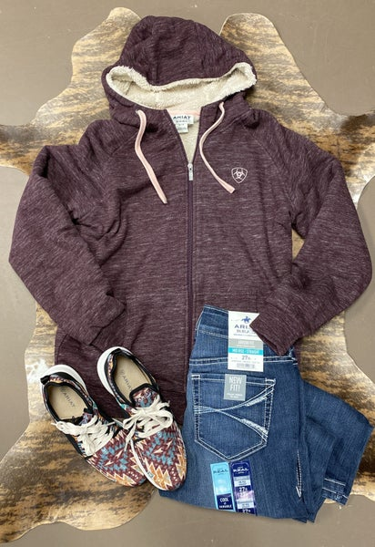 Ariat Women's REAL Burgundy Sherpa