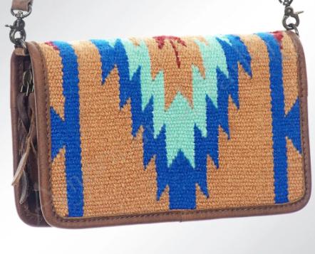 AD Tan/Blue Saddle Blanket Wallet