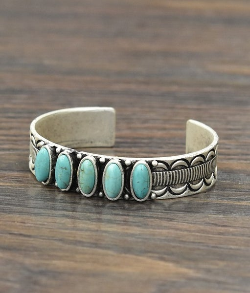 The Durango  Turquoise Cuff Bracelet
