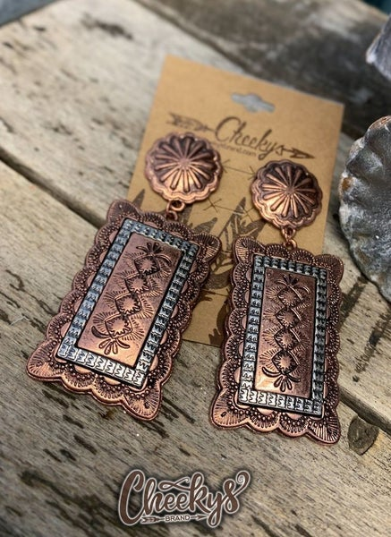 Cheeky's Arabella Western Bronze Earrings