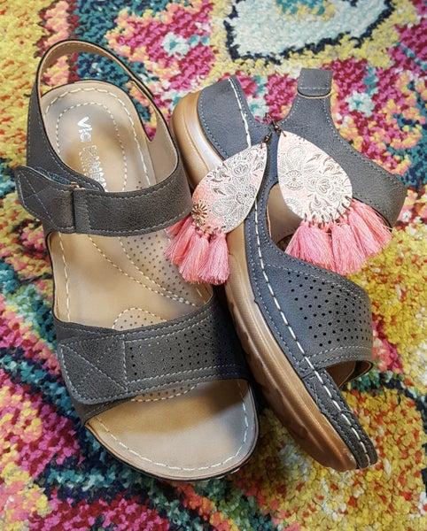 Grey Comfort Velcro Sandal