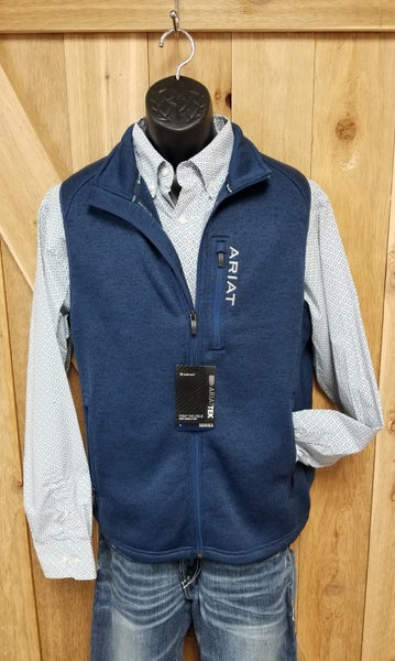 Ariat Men's Indigo Heather (Navy) Caldwell Vest