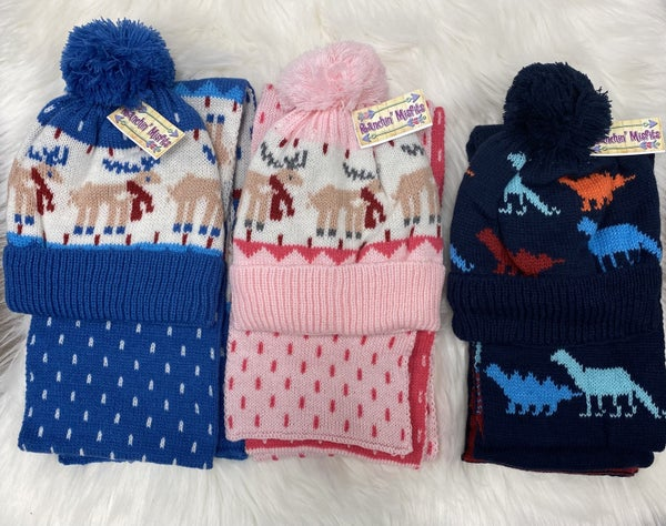 Toddler Knit Beanie & Scarf Set