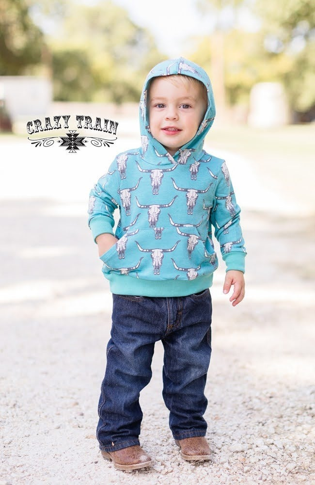 Crazy Train Toddler Bull Calf Hoodie