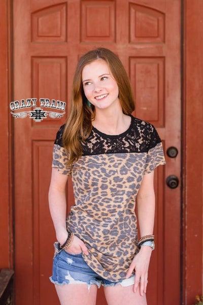 Crazy Train Leopard Lace Top