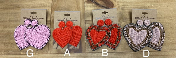 Cheeky's Heart Earrings