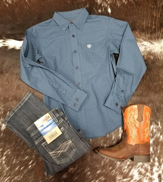 Ariat BOYS Jennersville Classic Fit Shirt