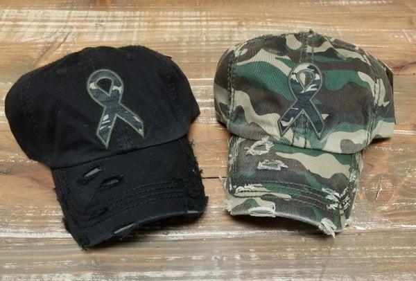 Camouflage Ribbon Baseball Cap