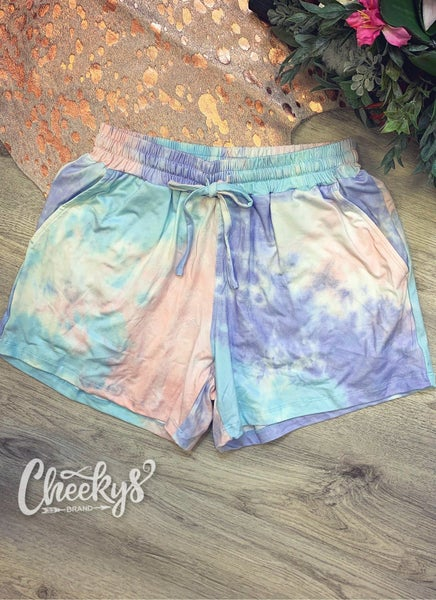 Cheeky's Pastel Tie-Dye Lounge Shorts
