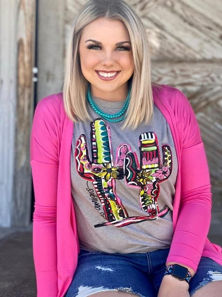 Texas True Poppin' Pink Cardigan