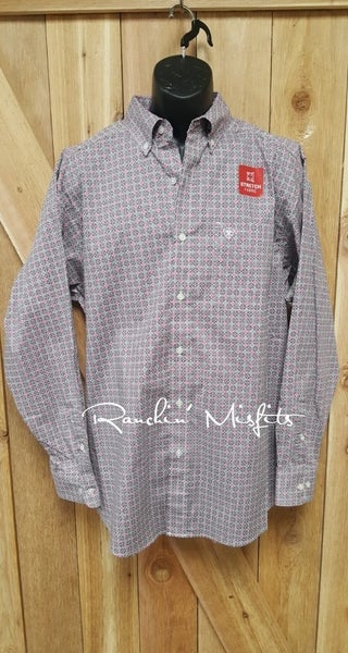 Men's Ariat Fey Stretch Print Shirt