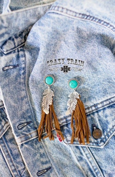 Crazy Train Brown Giddy Wild Earrings