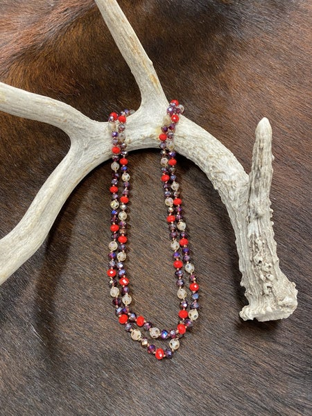 Red Stone Sparkle Necklace