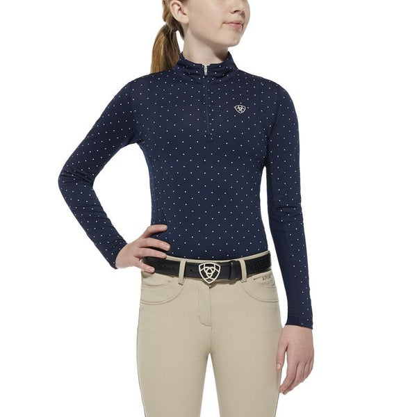 KIDS Ariat Sunstopper 1/4 Zip Baselayer