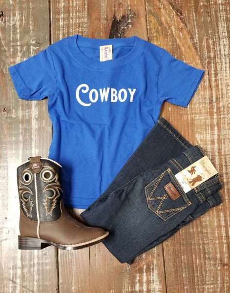 Cowboy Toddler Tee Royal Blue