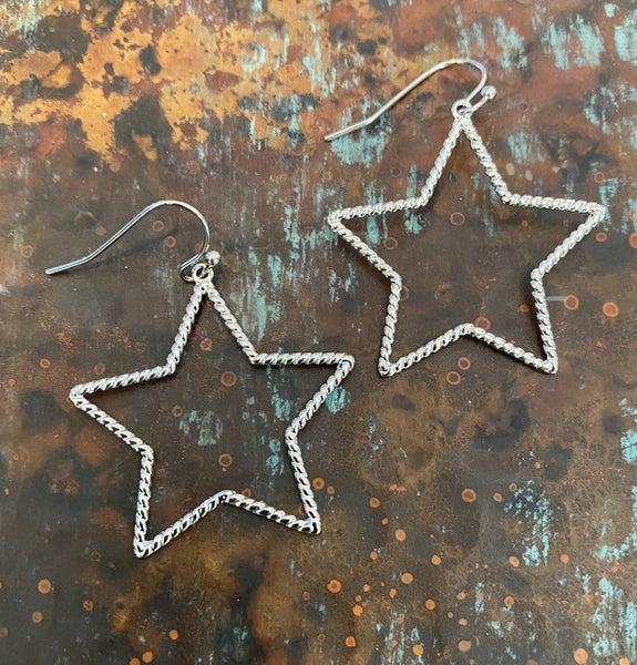 Silver Rockstar Earrings