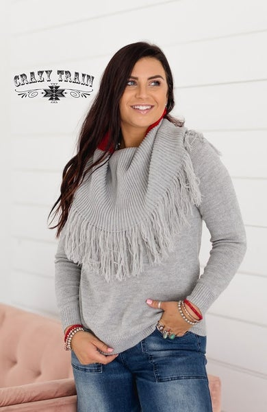 Crazy Train Shana Grey Sweater