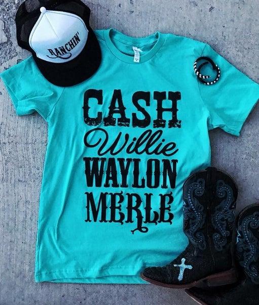 Cash Willie Waylon Merle