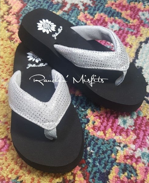 GIRLS Yellowbox Silver Sparkle Sandal