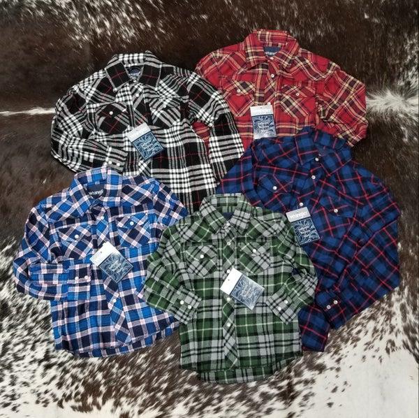 Wrangler Assorted BOYS Western Flannel
