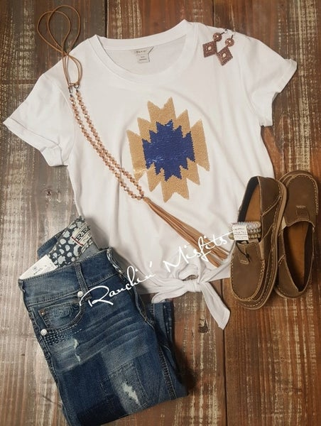 Ariat Womens Aztec Sequin Tee