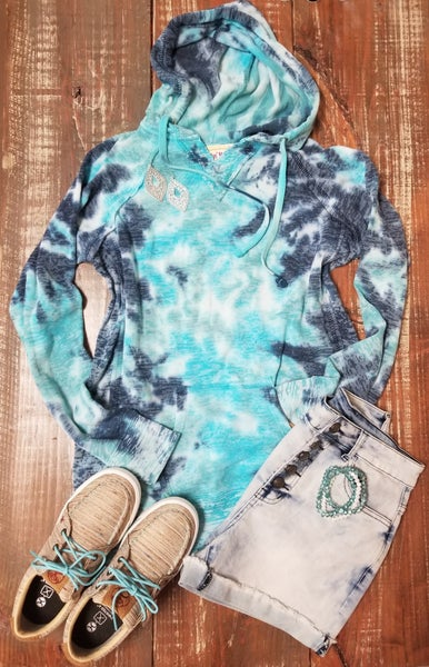 Women's Bahama Blue Hooded Sweatshirt