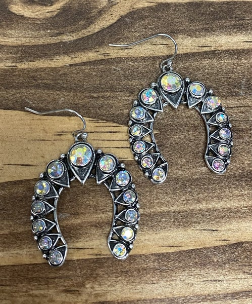 Dodge City Lucky AB Crystal Earrings
