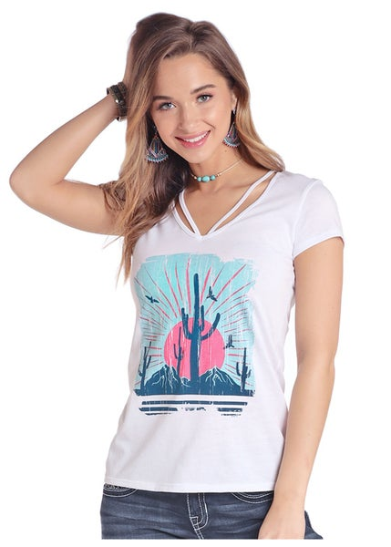 Panhandle Saguaro Sunset Tee