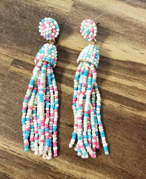 Bubblegum Tassel Earrings