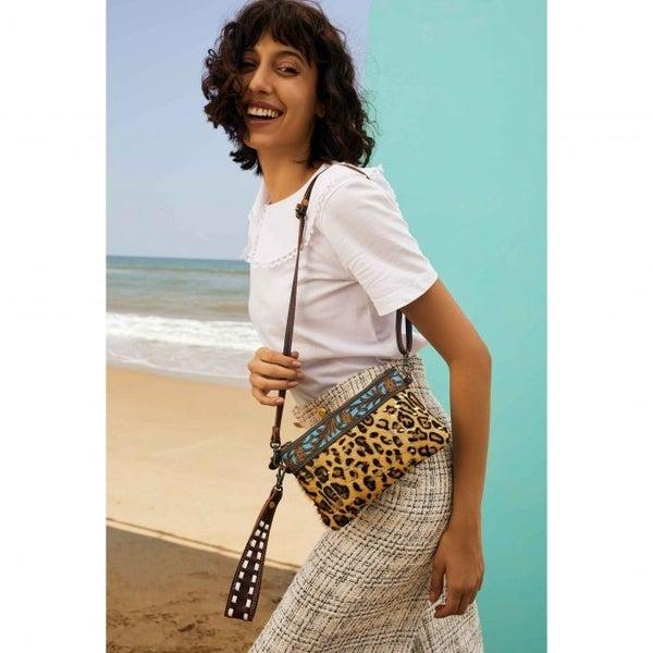 Leopard & Leather Sling Bag