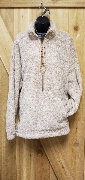 Faux Fur Half Zip Pullover CURVY *3 Colors*