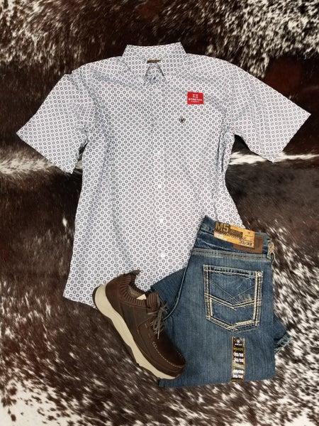 Ariat  Men's Short Sleeve Lockhart Print Stretch Classic Fit Shirt