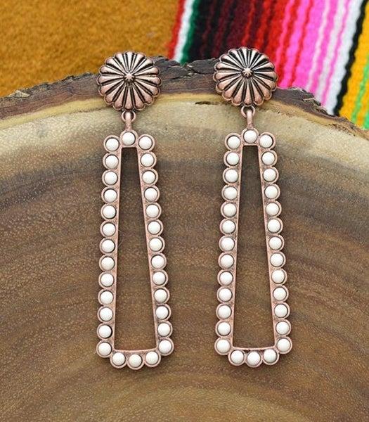 Concho & Ivory Stone Post Earrings