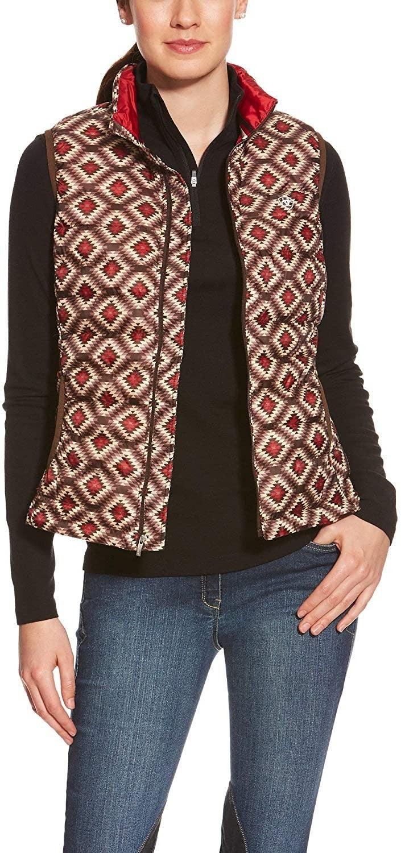 Ariat Aztec Print Ideal Down Vest