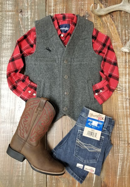 Charcoal YOUTH Wyoming Wool Vest