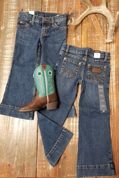 Wrangler GIRLS Wide Leg Trouser Jeans