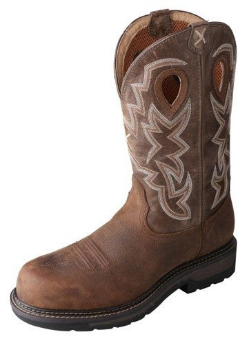 Men's Twisted X Lite Cowboy WP Safety Boots - Distressed