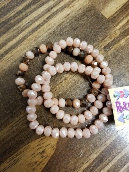 Taupe & Blush Stretch Bracelets *Set of  3*