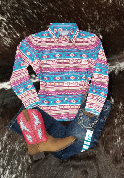 Panhandle GIRLS Aztec Snappy Shirt