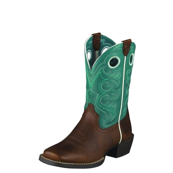 Ariat KIDS Turqoise and Brown Crossfire Western Boot