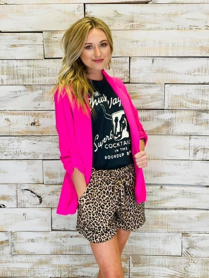 Texas True Leopard Shorts